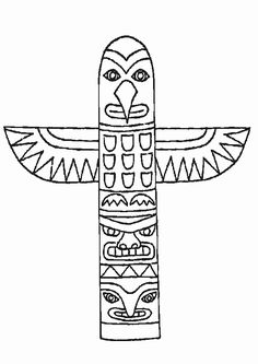 horse totem pole coloring pages | 17 Best totem pole coloring pages images in 2019 ...