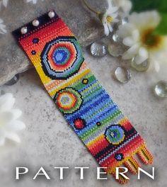 Additional Links: http://www.etsy.com/listing/95987828/beaded-pattern-rainbow-bubbles-bracelet