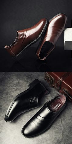 $24.98 <Click to buy> Dandy Men's Leather Business Dress Shoes