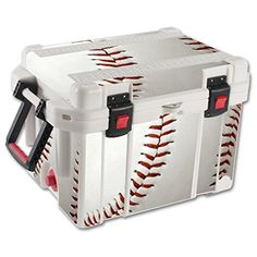 MightySkins Protective Vinyl Skin Decal for Pelican 35 qt Cooler wrap cover sticker skins Baseball >>> Visit the image link more details. (This is an affiliate link) #CoolersandAccessories