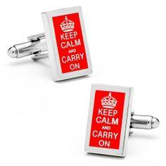 Keep Calm And Carry On Cufflinks-CLI- CC-KCCO-SL Cufflinks INC. $49.95
