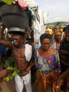 A GRAND MUM CAUGHT MAKING LOVE IN AFIKPO EBONYI STATE PARADED AROUND THE COMMUNITY