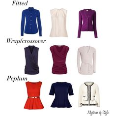 tops and cardigans for the neat hourglass body shape
