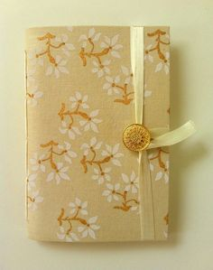 Handmade Journal / Notebook made with beige by Newleafjournals, $34.50