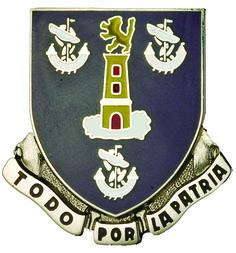 295th Infantry Unit Crest (To Do Por La Partia)