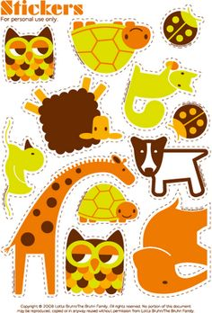 Free stickers, gift tags, felt board, ...these are TOOO adorable to not be used everywhere...especially the owls!!! :)