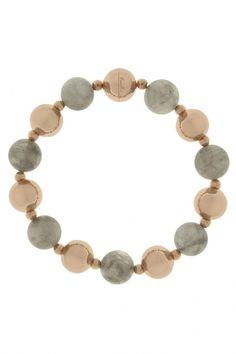 WSBZ00020GR - Bronzallure Beaded and Stones dames armband