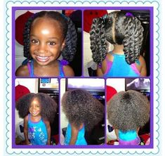 Styled Child's Natural Hair - Black Hair Information Community Baby Girl Hairstyles, Natural Hairstyles For Kids, Bride Hairstyles, Cute Hairstyles, Kids Hairstyle, Children Hairstyles, Hairstyle Ideas, Pageant Hairstyles, Woman Hairstyles