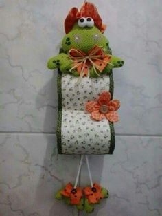 Sewing Crafts, Sewing Projects, Projects To Try, Fabric Dolls, Paper Dolls, Rolled Paper Art, Toilet Paper Roll Holder, Bathroom Crafts, Paper Mache Sculpture