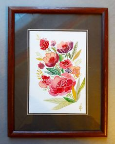 watercolor mixedmedia aquarell flowers Art Flowers, Flower Art, Watercolor, Frame, Home Decor, Watercolors, Pen And Wash, Picture Frame, Art Floral