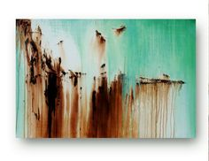 Canvas Abstract Painting Large Original Painting on Canvas Mint Green and Chocolate Brown Painting Contemporary Art 36x24 by Heather Day