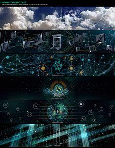 Huawei Connect 2017 on Behance Map Design, 3d Animation, Online Portfolio, Motion Design, Motion Graphics, Art Direction, Concept Art, Connection, Illustration Art