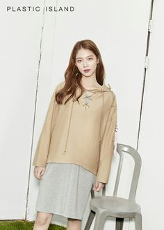 Gong Seung Yeon Plastic Island Spring 2017 Look 1 Seung Ah, Gong Seung Yeon, Asian Actors, Korean Actresses, Actors & Actresses, Park Min Young, Chinese Actress, Bell Sleeve Top, Spring