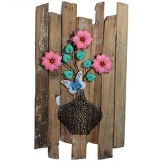 Features:Product Measures: 37 x 20.75 x 2.5 inchMade out of MDF woodIn shades of multicolorDescription:Are you an artistic person? Then look out for this wonderful wooded wall decor which will simply make your living place look stunning. It is made out of MDF wood which appears fantastic. In shades of multicolor it will merge well with the interiors of your home. It is designed in a creative manner having rusty finished wooden planks placed unevenly and a flower vase with beautiful…