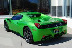 Green Ferrari 458 Spider - http://jx83395757.com/green-ferrari-458-spider-16/