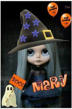 Mary Adornos Halloween, Blythe Dolls, Art Sketches, Mary, Christmas Ornaments, Holiday Decor, Disney, Gifs, Letters