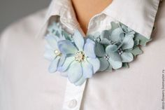 Textile Jewelry, Fabric Jewelry, Fabric Necklace, Silk Flowers, Fabric Flowers, Bridal Accessories, Fashion Accessories, Color Type, Jewelry Crafts