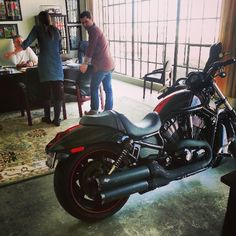 Everyone needs a parked in their office. And it's not even an epic fail, lol. Epic Fail, Extended Family, Group Of Friends, Custom Motorcycles, Harley Davidson, Transportation, Bike, Adventure, Park