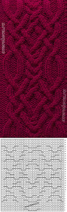 369 braid pattern width 28 loops | catalog knitting patterns