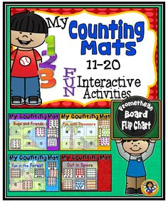 Here is a fun digital learning opportunity to help your young learners practice their counting skills. #math#prometheanboard#flipchart#kindergarten#teacherspayteachers