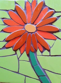 An orange gerbera mosaic £32 Available to order at www.justmosaics.co.uk