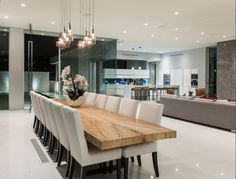 Modern Lights | Despite Of The Wood Dining Table, The Room Has A Chic Style