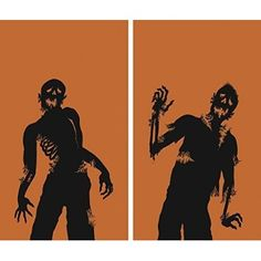 "Online WOWindow Posters Ghoulies Silhouettes Halloween Window Decoration Two 34.5""x60"" posters for  Halloween Gifts Idea Deal for  #Halloween Gifts Idea Promotions"