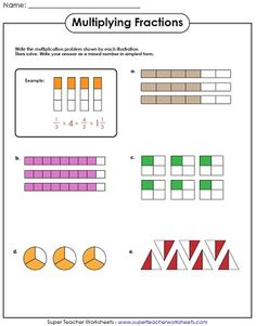 Check out our new multiplying fractions worksheets! #mathworksheets
