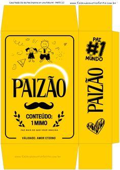 Uau! Veja o que temos para Caixa Paizao Presente Dia dos Pais - Amarelo Menina 1-2