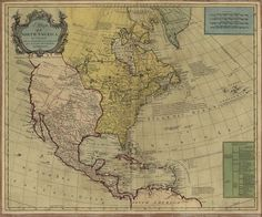 "1765 North AMERICA, Map, 16""x13"" Print, United States, Antique, HISTORY"