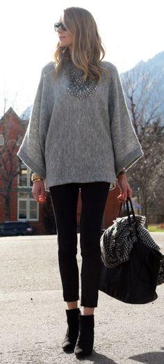 #fall #fashion / oversized knit