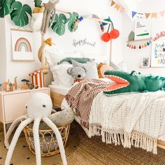 Inspirational childrens decor this jungle themed room packed full of the cu Childrens room Girl Room, Girls Bedroom, Nursery Decor, Bedroom Decor, Kids Decor, Home Decor, Art Decor, Art Wall Kids, Wall Art