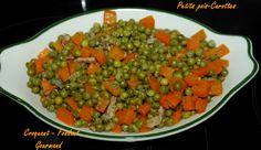 Un plat de légumes vite fait, qui ne demande pas trop d'ingrédients et qui est toujours apprécié.J'utilise des petits pois surgelés, ce qui permet de faire ce plat toute l'année.