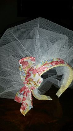 Handmade vail for vintage hen party