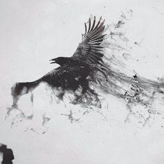 40 Bold and Brazen Bear Tattoos - Blackwork crows look sick blackworkcrow crow blackcrow raven blackbird blackworkbird blackworkartis - Bear Tattoos, Body Art Tattoos, Sleeve Tattoos, Tree Tattoos, Dark Art Tattoo, Elephant Tattoos, Hand Tattoos, Tatoo Bird, Black Bird Tattoo