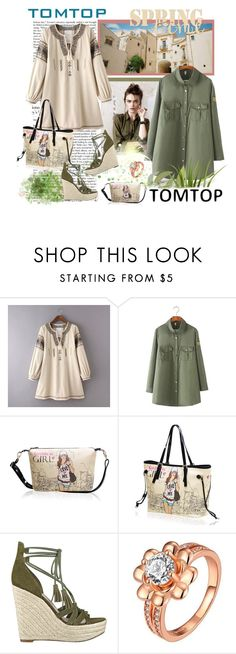 """""""TOMTOP+ 16"""" by carola-corana ❤ liked on Polyvore featuring GUESS, vintage, tomtop and tomtopstyle"""