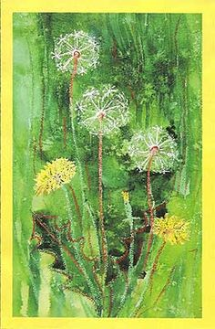 Kids art. Fluffy dandelions - a drawing lesson for children