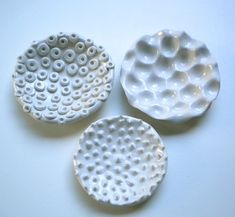 Dalenda Arbia. Three soap dishes. I can see one of these in the San Clemente condo. @Karen Jacot Henson, do you think Grandma would like a gift like these?