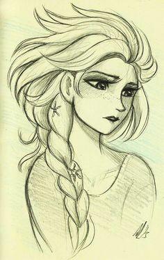 She looks so glum. But she's still beautiful.