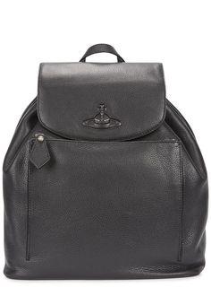 Vivienne Westwood black grained leather backpack