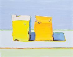 paperimages:  Wayne Thiebaud, Two Cheese Cubes, 2011.