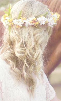 "Naturally wavy styled hair... Which I have already... Just made into a more ""natural"" look. This would be nice for our wedding since it is going to be an ""All Natural"" wedding."