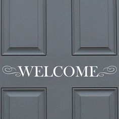 Welcome Sign - Vinyl Wall Quote Decal - Wall Decal, Office, Home Decor on Etsy, $10.00