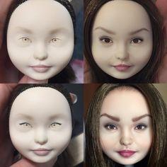 """Сколажила процесску для тех, кто любит не только """"до и после"""", но и """"во время"""" #olgakamenetskaya #repaintdoll #customdoll #everafterhigh #dollface #doll"""