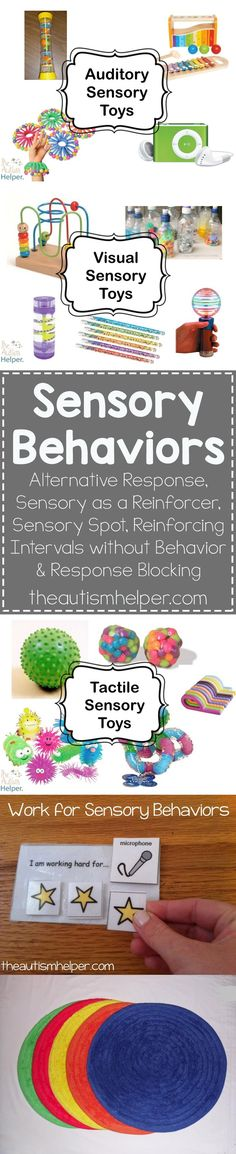 We're looking at sensory behaviors that can work to your benefit as well as dangerous sensory behaviors that require immediate attention. Learn more about reinforcement & intervention on the blog! From theautismhelper.com #theautismhelper