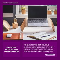Work from home refers to not sleeping enough, more breaks than regular and yes getting easily distracted. Working from home is not a holiday and you may find yourself with more work than usual.  #WorkFromHome #Work #Home #WorkAndRelationships #StayProductive #WFH #Tips #StayProductiveWhileWorkFromHome #Purplepennon #Office #WorkPlace Floor Chair, Workplace, Productivity, Finding Yourself, Tips, Holiday, Home Decor, Vacations, Decoration Home
