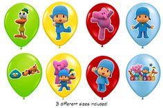 Pocoyo Birthday Balloon Sticker and party favors