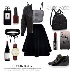 """Outfit Basic"" by sophiebenson16 on Polyvore featuring N°21, LE3NO, Rebecca Minkoff, NYX, Jo Malone, Kester Black, Kate Spade and Boohoo"