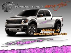 Hot Pink Camouflage for the ladies! Get your Wildwood Camo Kits Exclusively at www.CamoMyRide.com