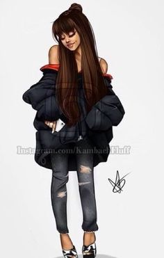 Ariana Grande Drawings, Ariana Grande Fans, Ariana Grande Pictures, Tumblr Girl Drawing, Celebrity Drawings, Cat Valentine, Hailee Steinfeld, I Icon, Tumblr Wallpaper